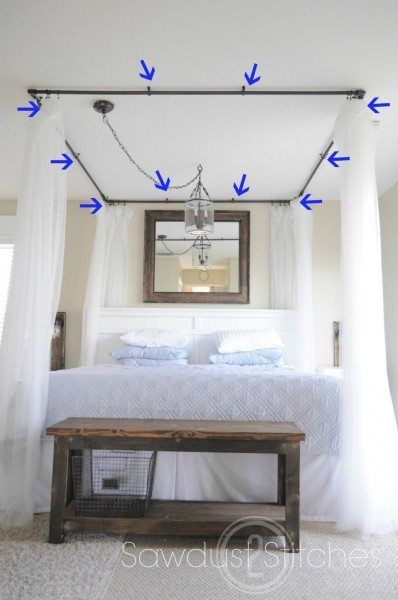 Pvc Bed Canopy Sawdust 2 Stitches Canopy Bed Diy Bedroom Diy Bed Drapes