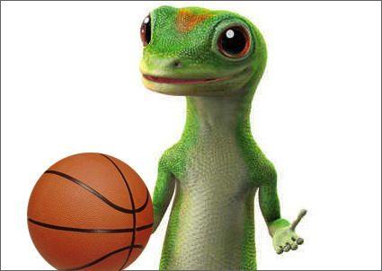 Geico Gecko Basketball Geico Gecko Love 3 Pinterest Geckos