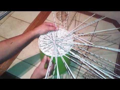 stojanek na koši, další postup ke koši na bylinky fotopostup Mikyna - YouTube