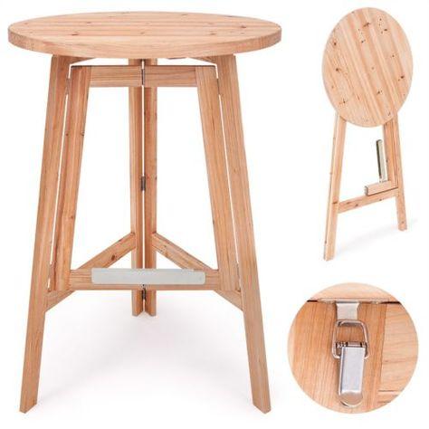 Toprix Superbe Table Pliante En Bois O 78 Cm Table De Bistrot