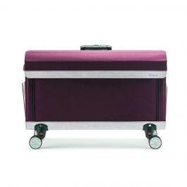Rolling Craft Tote Purple In 2020 Craft Tote Cricut Storage Craft Bags