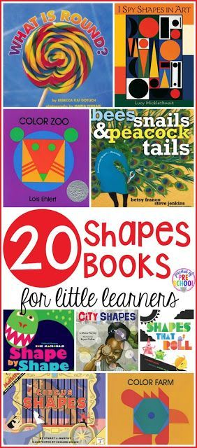 Shapes Books For Little Learners Preschool Books Shape Books Preschool Reading Shape book for preschool