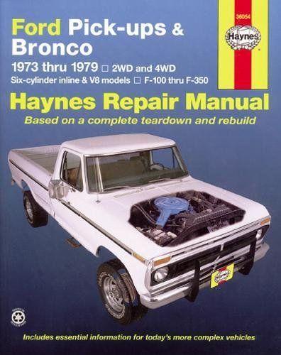 Download Pdf Ford Pickups Bronco Automotive Repair Manual 1973