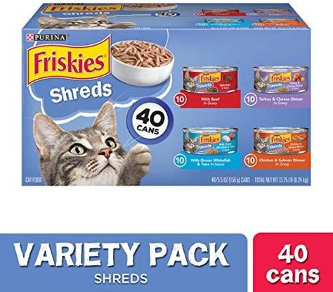 Purina Friskies Canned Wet Cat Food 40 ct. Price: $19.46 #DogsTreats>>#CatsTreats>>>#DogsCollars#CatsCollars#Pets