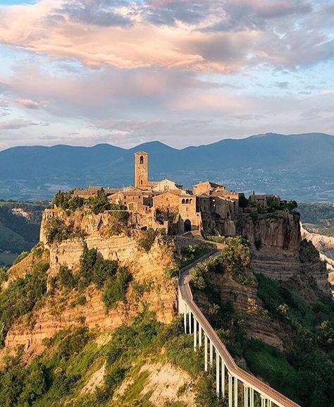 Civita Di Bagnoregio Italy Italie Vakantie