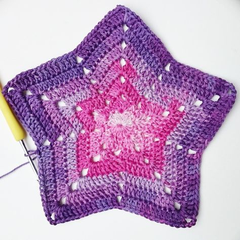 Crochet Super Star Afghan Pattern Anleitung şeması Http