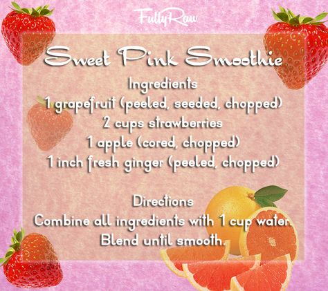 Try this rawesome Sweet Pink Smoothie this weekend! https://www.facebook.com/FullyRawKristina