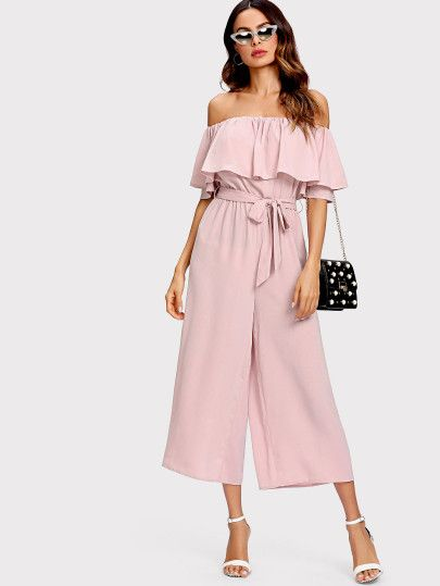 b4d0359f1f Pink Elegant Tie Waist Boat Neck Bishop Long Sleeve Solid Dress 2019 New  Women Mid-Calf Belted Party Dresses | Products | Dresses, Boat neck, Sleeves
