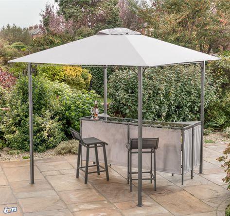 Swell Gazebo Bar Stool Set Perfect For Garden Parties Set This Machost Co Dining Chair Design Ideas Machostcouk