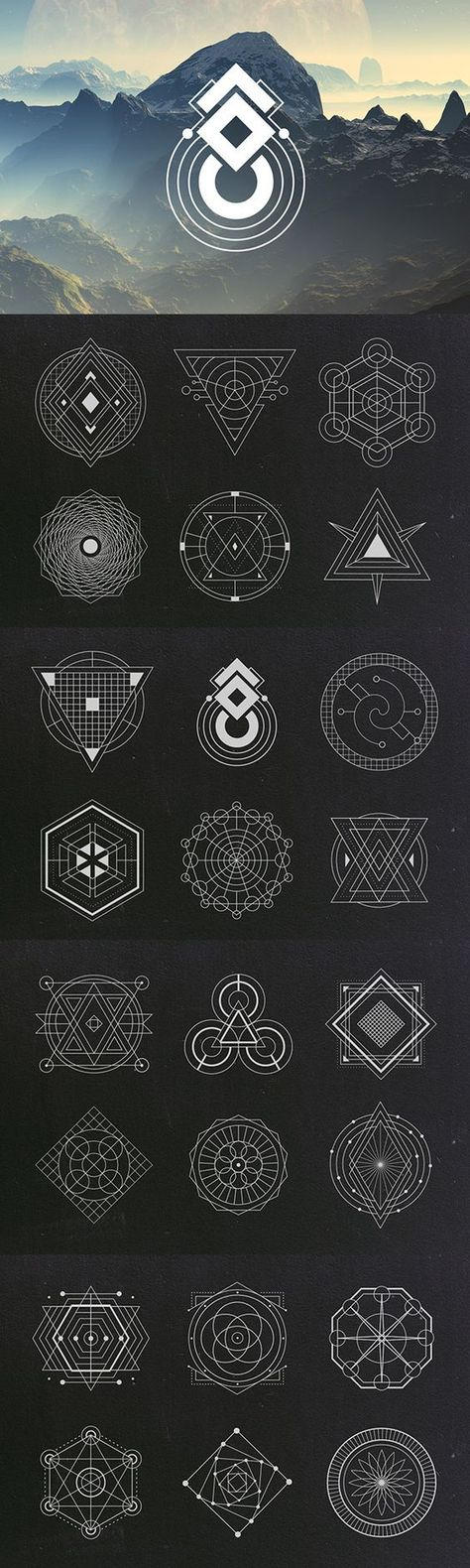 This product is part of the Sacred Geometry Bundle: