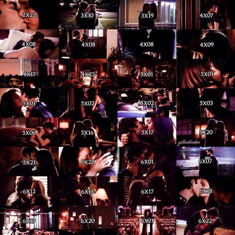 every delena kiss in order | Vampire diaries, Vampire