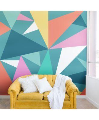 Deny Designs Old Art Studio Modern Geometric No 49 8 X8 Wall Mural Reviews Wallpaper Home Decor Macy S In 2021 Living Room Murals Wall Art Living Room Home Decor