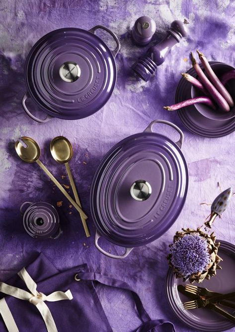 New Colourway From Le Creuset: Ultra Violet Staub Cookware, Le Creuset Cookware, Pastel Home Decor, Purple Kitchen, Pip Studio, All Things Purple, Color Of The Year, Pantone Color, Shades Of Purple