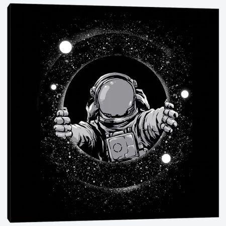 Black Hole Canvas Art Print By Digital Carbine Icanvas In 2021 Astronaut Art Astronaut Wallpaper Black Hole Astronaut black and white wallpaper