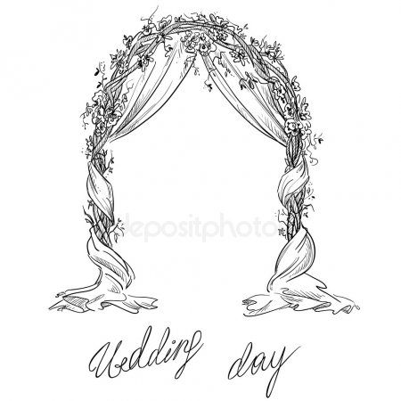 Wedding Arch Decoration Vector Sketch Design Element Stock Vector Sponsored Decoration Vector Wedding Illustration Wedding Drawing Wedding Arch
