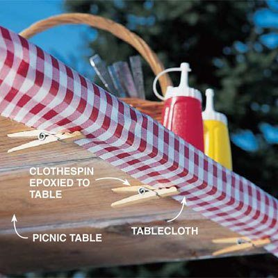 10 Ways To Use Clothespins When Camping And RVing | Picnic Tables, Epoxy  And Picnics