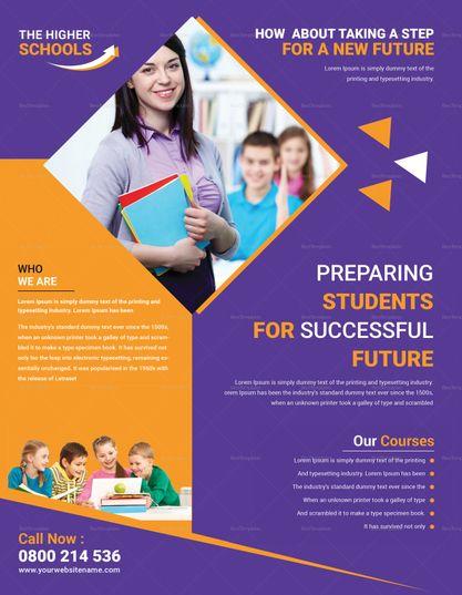Advanced Education Flyer Template Pamphlet Design Flyer