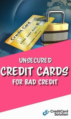 Secured credit cards for bad credit with no deposit
