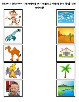 Where Do These Creatures Live Draw A Line From The Animal To Where You Will Find Them Early Childhood Education Kindergarten Science Preschool Lesson Plans As you can see, there are many details you can give to your interlocutor to help him or her picture the. preschool lesson plans