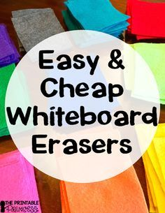 Is Your Classroom Constantly Out Of Erasers This Post Will Help You Learn How You Can Easily Diy Cheap And White Board Classroom Whiteboard Whiteboard Eraser