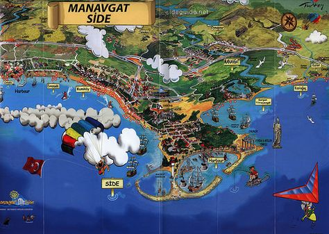 Manavgat Side Antalya Turkiye 2013 3 Map Mediterranean Turkey