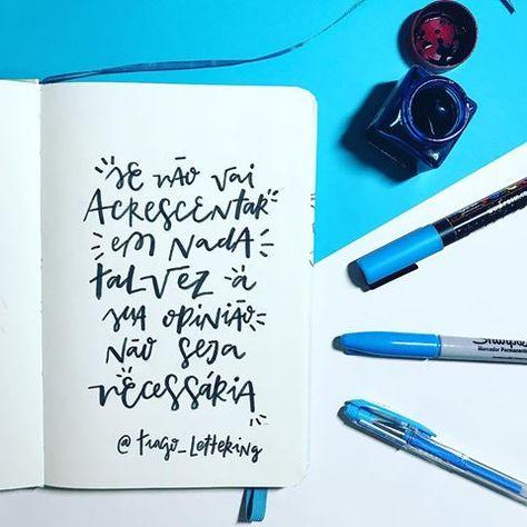 Lettering simples e composição em cores frias (aqui em São ...