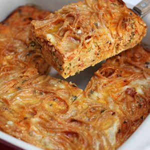 Spaghetti squash zucchini casserole. low carb yumness