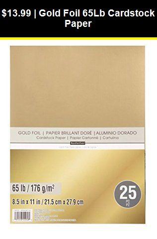 Details About Gold Foil 65lb Cardstock Paper Cardstock Paper