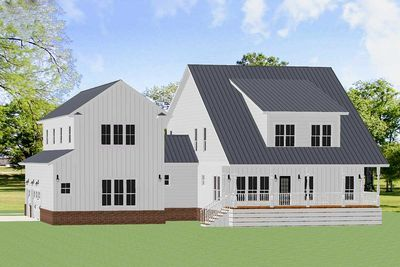 Plan 46364la Exquisite 3 Bed Farmhouse Plan With 2 Story Family Room Farmhouse Plans Family Room Built In Lockers
