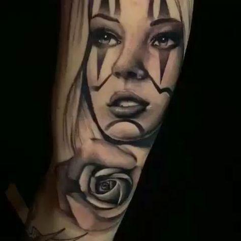 Girl Face Arm Tattoo!