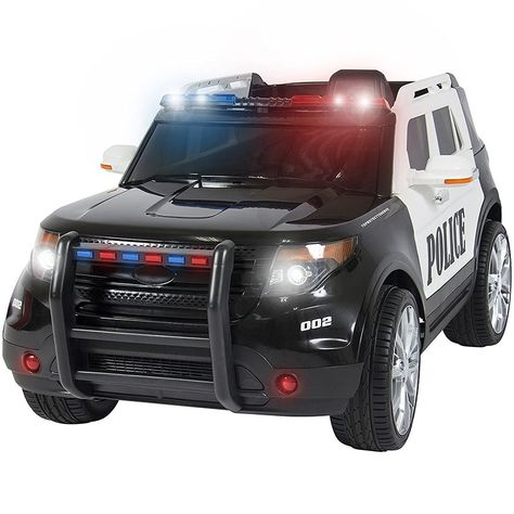 Best Choice Products Kids Powered Ford Style Police RC Remote Ride-On SUV Car w/ Parent Control, 2 Speeds, LED Lights, AUX, Sirens - Black >>> Check out the image by visiting the link. (This is an affiliate link) Police Truck, Police Cars, Ford Police, Kids Police, Toy Cars For Kids, Rc Remote, Power Wheels, Kids Ride On, Ride On Toys