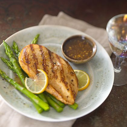 A tangy marinade that will complement chicken, shrimp, salmon, swordfish and tuna. Make an extra batch of marinade to use as dipping sauce.