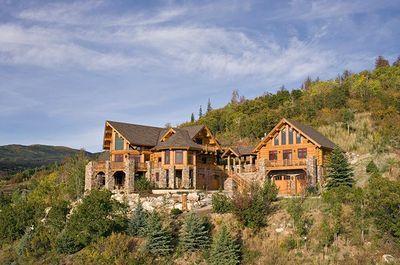 6 Bedroom Loft 5 5 Baths Custom Log Home Luxury On The Mountain Steamboat Springs Log Homes Rustic House My Dream Home