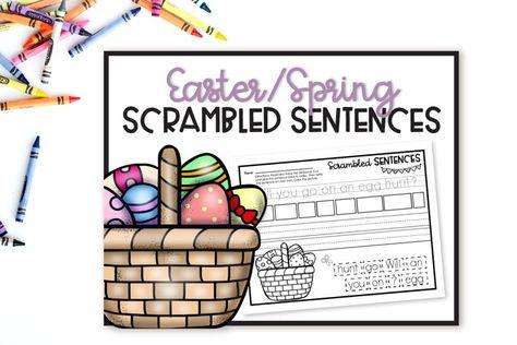 EasterSpring Scrambled Sentences