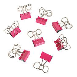 See Jane Work® Binder Clips, Bow Clips, Pink, Pack Of 8