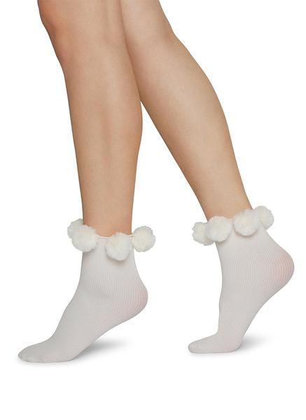 Ebba Pom Pom Socks Ivory