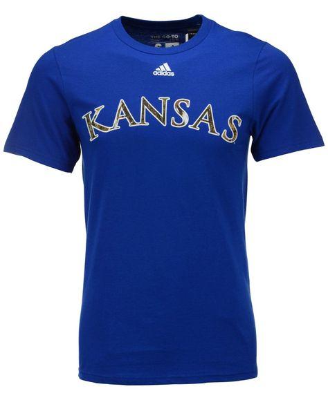 adidas Men s Kansas Jayhawks Camo Hunted T-Shirt  4671a91a374e5