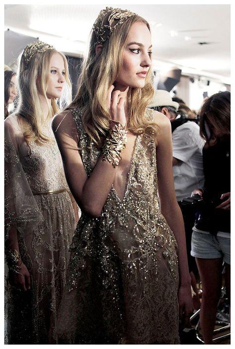 ELIE SAAB Backstage   Haute Couture Autumn Winter 2015-16