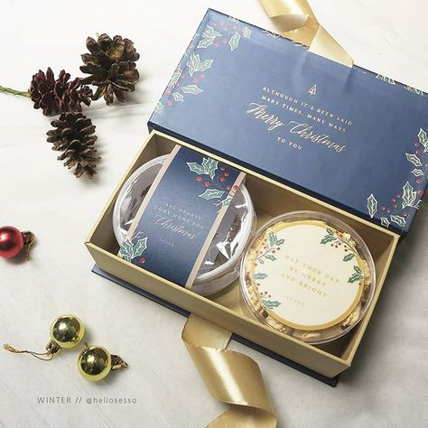 """SESSO on Instagram: """"CHRISTMAS HAMPERS 2018 Winter Package - IDR 185.000,- 1 exclusive hardbox, greeting card and tag 1 homemade cookies (choose 1: peanut…"""""""