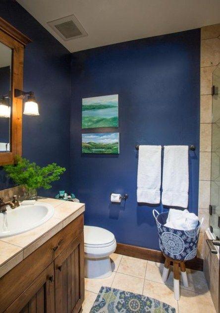 65 Ideas For Bath Room Blue Brown Navy Blue Bathroom Decor