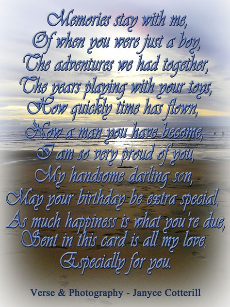 Pin By Christine Burns On Loved Ones In Heaven Birthday Cards For Son Birthday Verses Birthday Verses For Cards