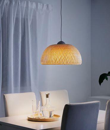 Boja Hangeleuchte Rattan Bambus Ikea Deutschland Pendelleuchte Kuche Anhanger Lampen Hangeleuchte