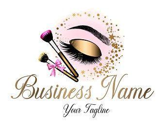 Logo Design Custom Logo Design Logo Beauty Lash Logo Design Cosmetic Makeup Logo Gold Pink Beauty Cosmetics Logo Beauty Makeup Logo Custom Logo Design Eyelash Logo Makeup Logo