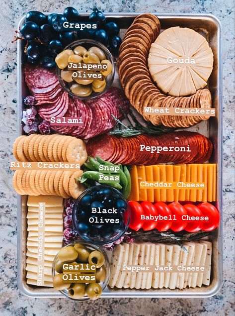 Charcuterie board sheet pan meat tray cheese tray veggie tray appetizer meat and cheese tray charcuterie board simple easy plain Meat And Cheese Tray, Meat Trays, Food Trays, Cheese Platters, Cheese And Cracker Tray, Cheese Party Trays, Simple Cheese Platter, Easy Cheese, Wine Cheese