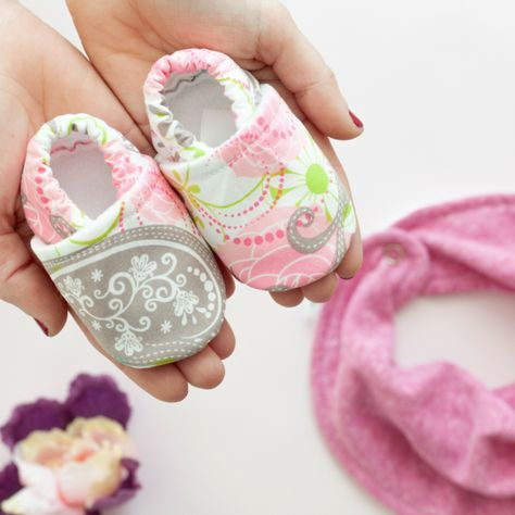 Valentine's day baby girl booties