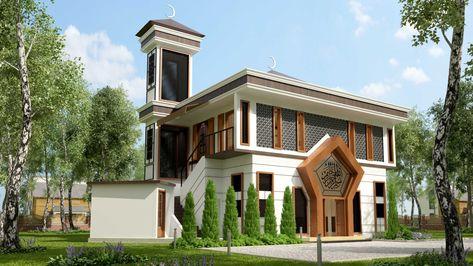 hasil gambar untuk desain exterior masjid satu lantai