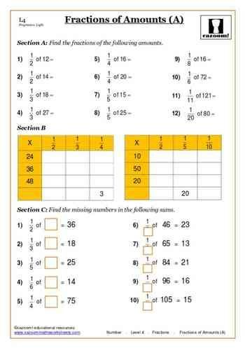 Fractions Maths Worksheet Ks3 Maths Worksheets Math Worksheet Math Fractions Worksheets