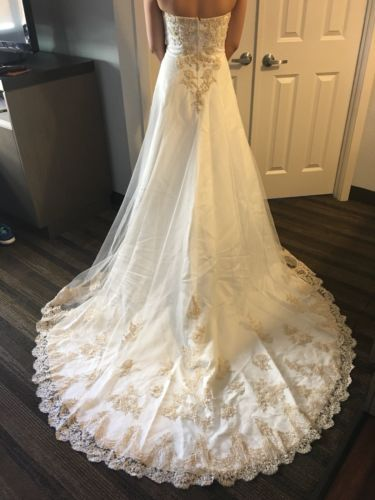 New David S Bridal Wedding Gown Size 4 Style T8818 Ivory Gold Wedding Gown Sizes Wedding Gowns New Wedding Dresses