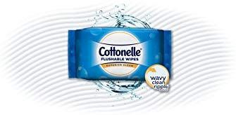 Cottonelle FreshCare Flushable Wipes For Adults 42 Count 8 Soft Packs