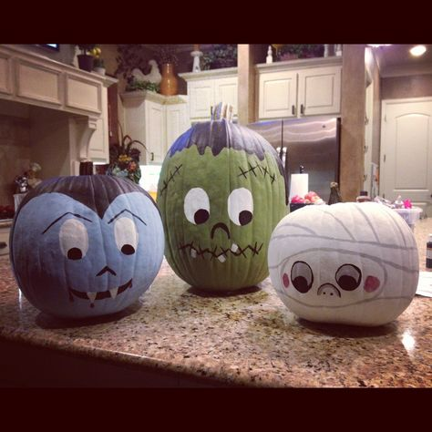 Cute ideas for pumpkin painting time! in 2019